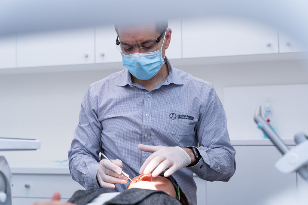 facial orthodontic examination