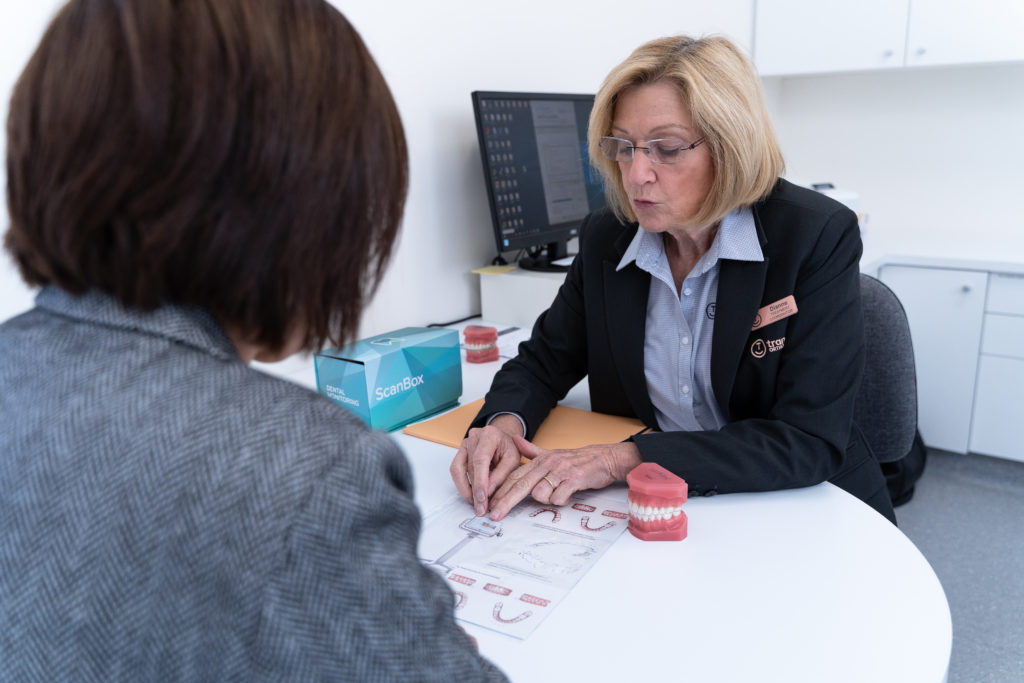 treatment coordinator at orthodontic consultation