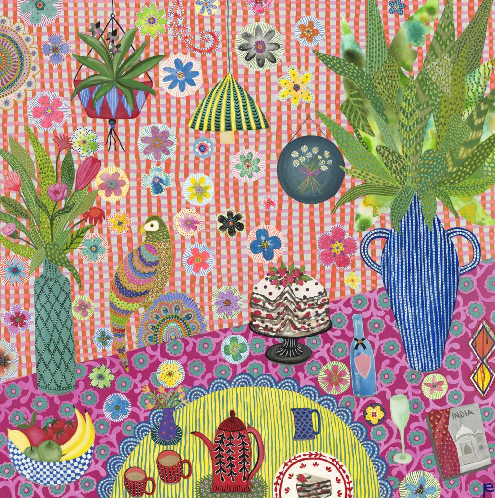 High Tea painting by Eliza Piro