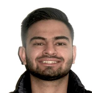 Hamed's smile before Invisalign treatment